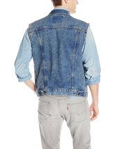 Levi's Strauss Men's Premium Cotton Button Up Denim Jeans Trucker Vest image 5
