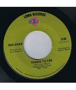 Ben Aiken Baby You Move Me 45 rpm Thanks To You - $37.99