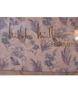 Nicole Miller Blue and Lavender Floral and Leafy Fronds Sheet Set King - $85.00