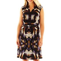 Woman's R&K Originals V-Neck Print Dress Plus Sizes 1X, 2X, 3X NEW MSRP ... - $24.99