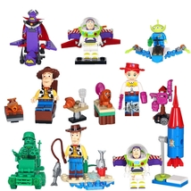 8 pcs Super Hero Woody Aliens Toy Story Series Minifigure Bricks Block f... - $23.99