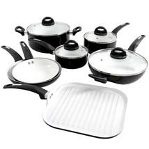 Oster Herstal 11 Piece Aluminum Cookware Set in Black - $123.00