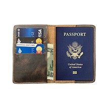 Durable Leather Passport Holder Handmade by Hide & Drink :: Bourbon Brown - $23.22