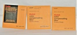 Three ( 3 ) Kodak Color Compensating Filters 75mm x 75mm / 3'' x 3'' - $9.36