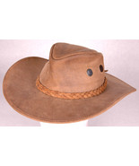 Vtg Wilsons Leather Cowboy Hat-Braided Band-S-6 1/2-Western-Mens-Vented-... - $43.00