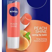 Nivea Peach Shine Caring Lip Balm 4.8 gm Long Lasting Moisturiser Free Shipping - $8.99+