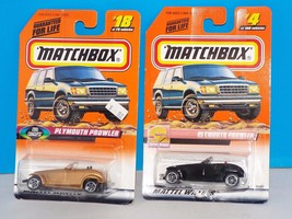 Matchbox Lot of 2 Packaged Cars Plymouth Prowler Gold & Black - $4.00