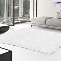 De Luxe White Retro Hand-Tufted Soft Shag Area Rug & Runners Multiple Sizes - $57.95+