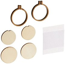 "3 Birds 60040 Mini Round Wood Hoops Punched for Cross Stitch-1.5"" Round - $29.78"