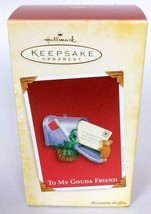 Hallmark Keepsake Christmas Ornament To My Gouda Friend Mouse With Mailbox 2005 - $16.83