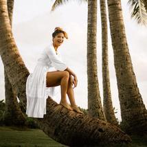 Women's Solid Tunic Style Button Down Long Lantern Sleeve Cotton Beach Dress image 5
