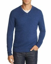 The Mens Store Bloomingdales Cashmere V-Neck Sweater Mens 2XL Blue A69-09 - $33.83