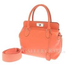 HERMES Toolbox 26 Veau Swift Crevette Handbag Shoulder Bag France Authentic - $4,455.39