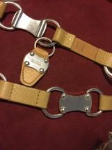 Michael  Kors Silver Non Magnetic Camel Tan X/XL  Link Belt (4/7) - $34.65