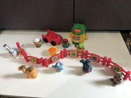 Fisher Price Little People Zoo Animals Figures Keeper Fences Lot Food Set - $24.70