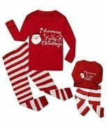 Kids Pajamas Matching American Girl Doll Size 7 Christmas - $17.81