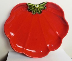 Set of 2 Tomato Plates Dept 56 Bright Red 10.5 Inch - $25.74
