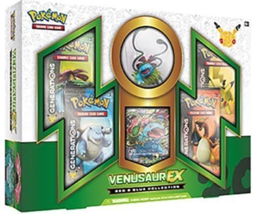 Pokemon TCG Generations Elite Trainer Box + Venusaur EX Red and Blue Collection