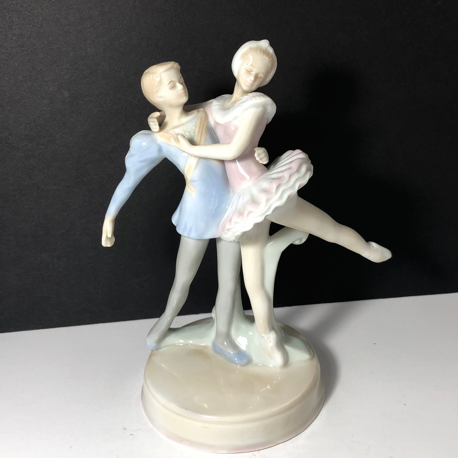 Primary image for VINTAGE PORCELAIN BALLERINA FIGURINE STATUE SCULPTURE RUSS COUPLE DANCING DANCE