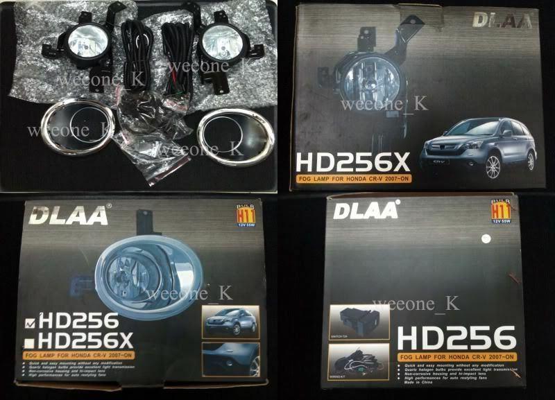 DLAA Spot Fog light Lamp Kit FOR HONDA CRV CR-V 2007 2008
