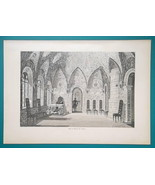 RUSSIA Moscow Hall in Teremnoy Palace Interior - 1880s Wood Engraving Print - $25.20