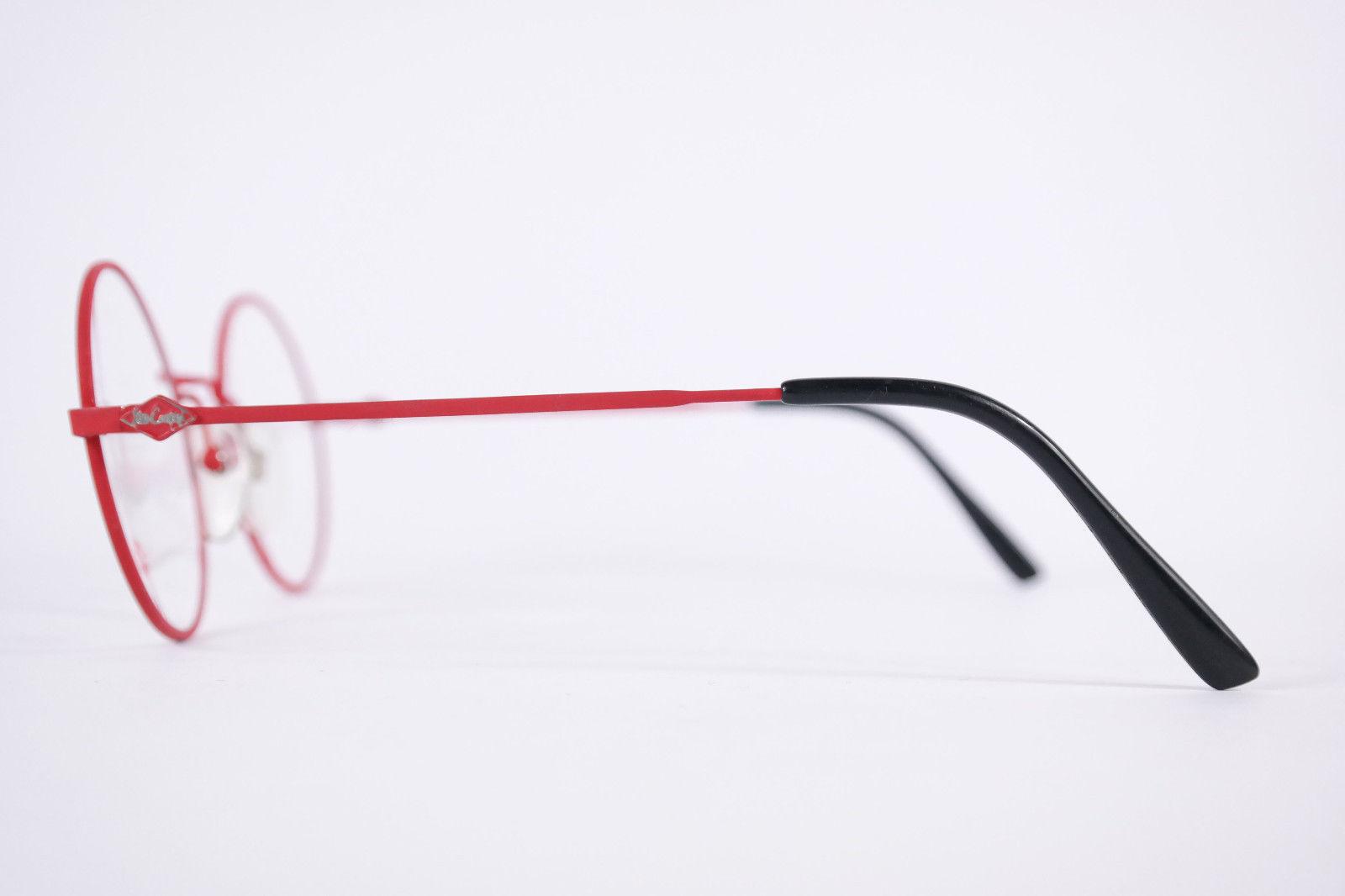 Authentic Lee Cooper Dallas Red Black Round Eyeglasses France Eyewear Unisex image 2