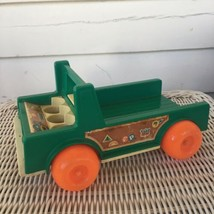 Vintage Fisher Price 994 Little People 1972 Play Family Camper Truck Base Piece - $5.94