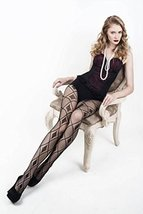 ICONOFLASH Women's Patterned Fishnet Stocking Tights, (Diamond Pattern, Regular) - $17.81