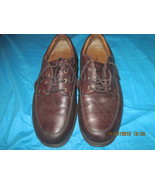 MEN'S RED WING BROWN OXFORD LEATHER SLIP-RESISTANT LACE-UP SHOES, SIZE 1... - $55.00