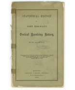 Statistical history Ridgway's Vertical Revolving Battery 1865 book arty ... - $75.00