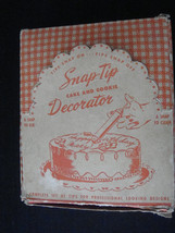 Vintage Snap-Tip Bar-Kay Aluminum Cake Decorator Set w/Tips and Nice Box - $5.50