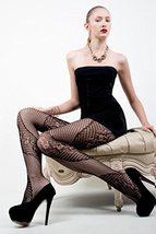 ICONOFLASH Women's Patterned Fishnet Stocking Tights, (Diagonal Floral, ... - $17.81