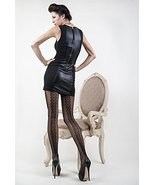 ICONOFLASH Women's Patterned Fishnet Stocking Tights, (Back Seam Bows, R... - $17.81