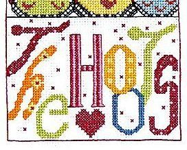 The Hoots owl cross stitch chart Bobbie G Designs
