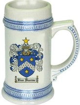 Vanbaerse Coat of Arms Stein / Family Crest Tankard Mug - $21.99