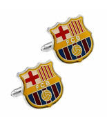 FC BARCELONA CUFFLINKS Football Club Sports Fan Team Soccer NEW w GIFT B... - $12.82