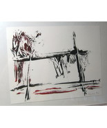 KATE AUGENBLICK Signed 1983 Abstract Art 8.5 x 11 - $56.00