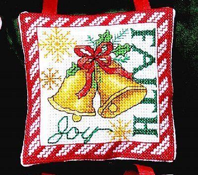 Faith Peace Ornaments christmas holiday cross stitch chart Bobbie G Designs