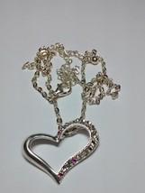 pretty heart pendant and chain - $9.95