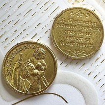Saint Christopher Coin Token Medal Travel Protect Protector Catholic Prayer    - $6.95