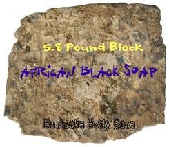 5.80 lb. African Black Soap Bulk - $39.99