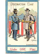 Grant and Lee Under One Flag 1908 Vintage Post Card  - $8.00