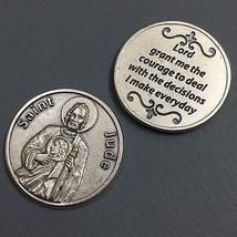 Saint St Jude Pocket Token Protector Protect Devotion Prayer Coin Medal  - $6.95
