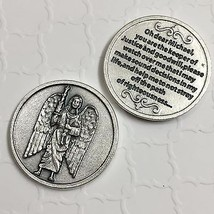 Archangel Michael Pocket Token Protect Devotional Prayer Coin Medal Made Italy - $5.95