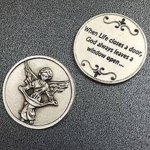 Guardian Angel Catholic Token Protector Protect Devotion Prayer Coin Medal  - $6.95