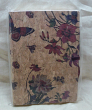 Flowers & Butterflies Cork Journal Made in Italy - $25.00