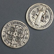 Saint Benedict Benedictine Pocket Token Protector Protect Coin Medal Catholic - $6.95
