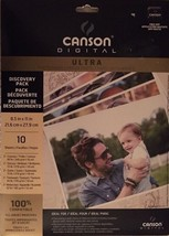 Canson Ultra Photo Paper 8 1/2 X 11 Canvas Glossy Satin Textured Watercolor 10pk - $19.96