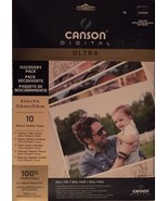 Canson Ultra Photo Paper 8 1/2 X 11 Canvas Glossy Satin Textured Waterco... - $19.96