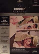 Canson Digital Premium Inkjet Paper 8.5X11 Discovery Pack 12 sheets Glossy Satin - $12.79